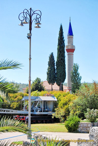 Attractive minaret near the Camlik Railway Museum