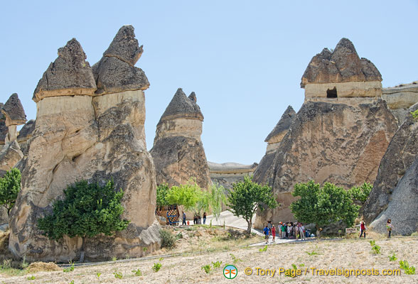 Some of these fairy chimneys are about 40 metres high