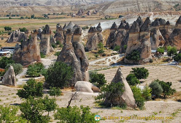 A magnificent view of the Monks Valley fairy chimneys