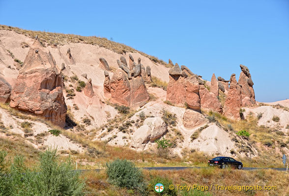 Pink rock formations of Rose Valley