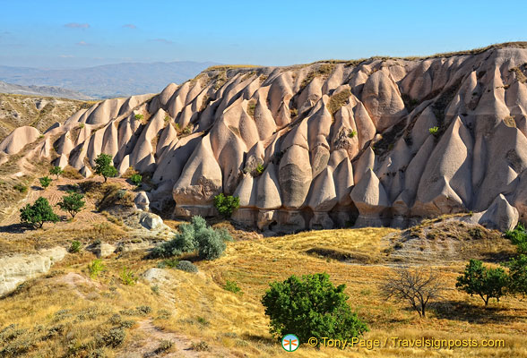 Unusual conical rock formations