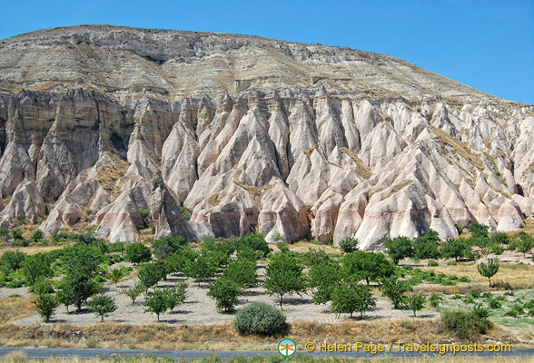 Stunning rock formation of Rose Valley