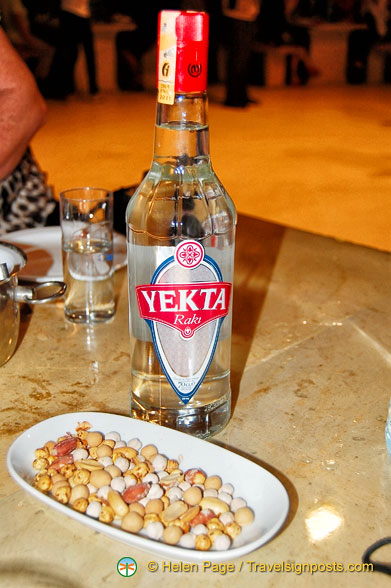 Yekta raki - a typical Turkish liquor