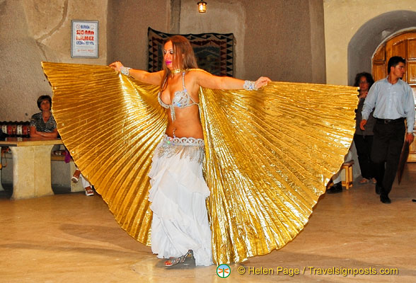 Belly dancer spreading her wings