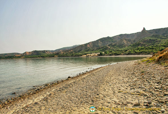 The beach at Anzac Cove