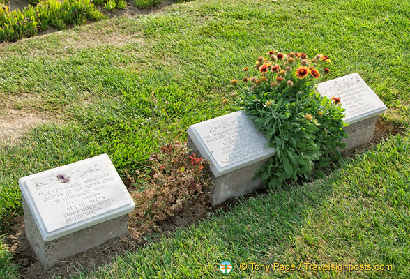 Gravestones of soldiers from the Indian Army