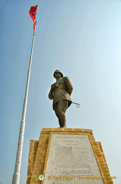 The Atatürk Anıtı (Memorial) at Conkbayiri, Gallipoli