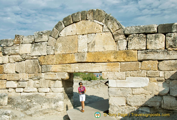 Walking through the Southern Byzantine Gate