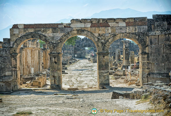 Arch of Domitian - the main thoroughfare of Hierapolis