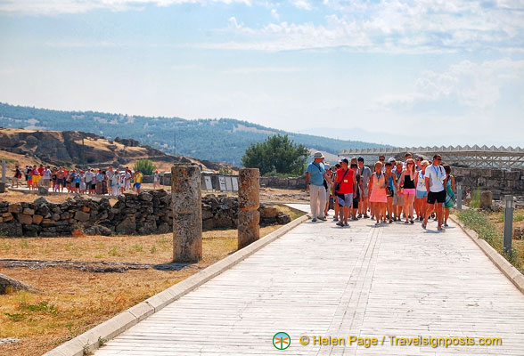 Sightseeing at Hierapolis