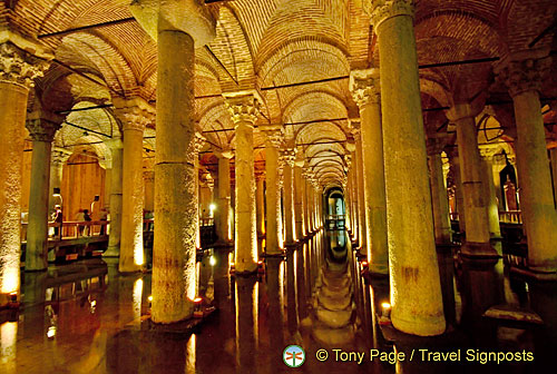 Basilica Cistern is also known as Yerebatan Sarayi or the Sunken Palace