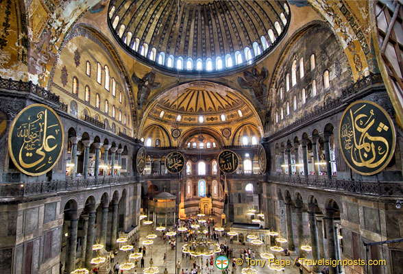 Internal view of Hagia Sophia ground floor