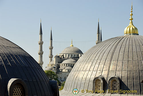 Domes and minarets of Hagia Sophia