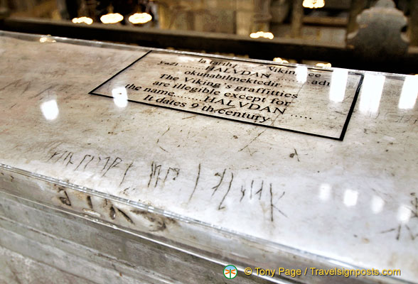 Viking inscriptions in Hagia Sophia