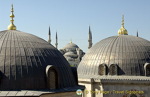 Hagia Sophia's domes and minarets