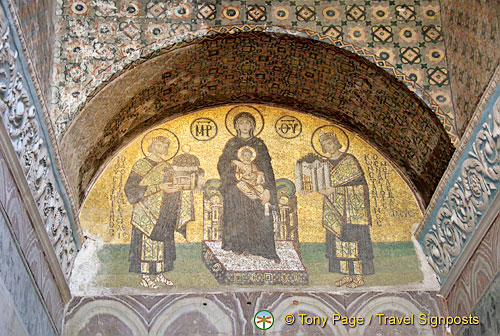 Sunu Mosaic - The Virgin between Justinian and Constantine