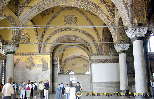 Hagia Sophia mosaics on the upper gallery