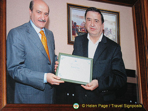 Mr. Colpan getting his Tourism award from the President of Turkey