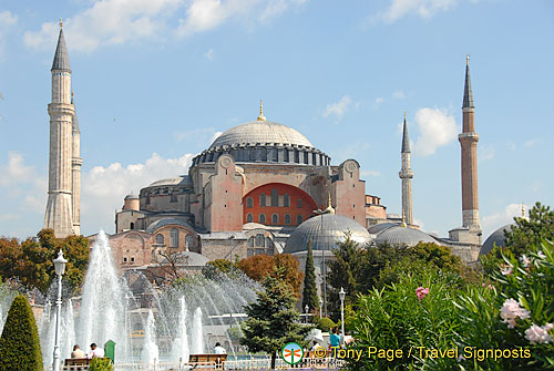 View towards Hagia Sophia