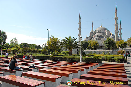 Seats in Sultanahmet Square