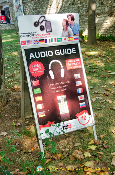 Audio guides available for Topkapi Palace