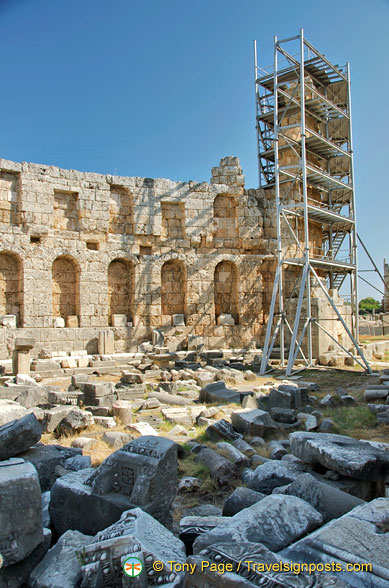 Remains of Perge theatre