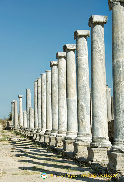 Colonnaded boulevard of Perge