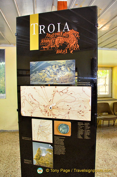 Displays at the Troy archaeological museum