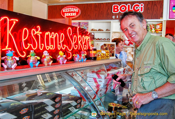 Tony checks out the Kestane Sekeri or candied chestnuts