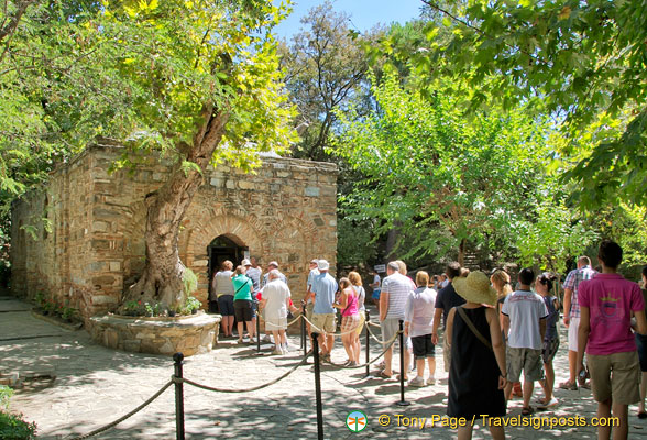 Visitors lining up to visit Virgin Mary House