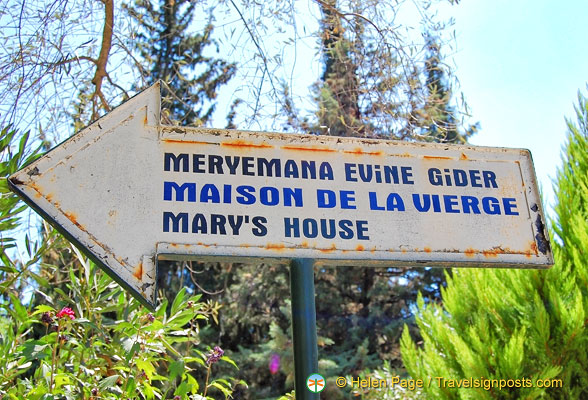 Meryemana Evine Gider - the Turkish name for Mary's House