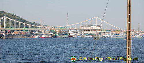 Arriving in Kyiv (Kiev) by river