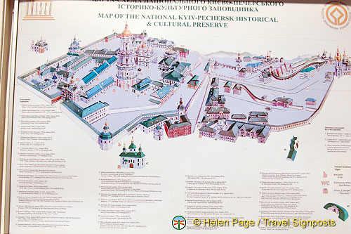 Map of the Monastery of the Caves complex