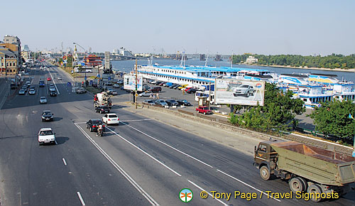 Kyiv (Kiev) port area