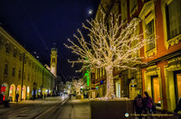 Christmas lights in Innsbruck