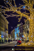 Christmas decorations in Innsbruck