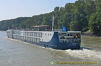 One of the many riverboats on the Danube