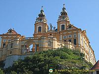 Imposing view of Melk Benedictine Abbey