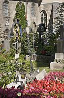 One of the special attractions of St. Peter's cemetery are the 'catacombs' hewn out of the Mönchsberg rock