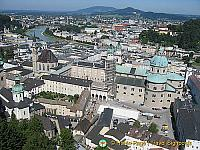 Aerial view of Salzburg from the Hohensalzburg Fortress