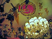 Chandelier and other ceiling decorations