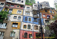 You won' see a straight line in Hundertwasserhaus