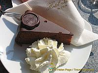 Sacher torte at the Hotel Sacher