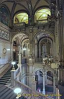 The central staircase of the Vienna Staatsoper