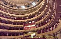 Horseshoe-shaped auditorium of the Staatsoper