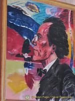 Painting of Mahler in the Gustav Mahler Hall