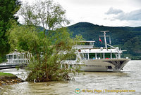 Our riverboat the River Princess at Weissenkirchen