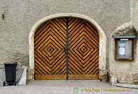 An attactive wooden door