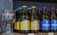 The very popular Chimay beers and the Chimay beer glass