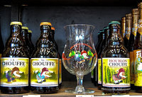 Chouffe beer and its beer glass